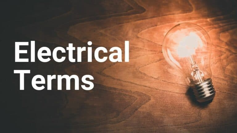Electrical Terms in Our Lives